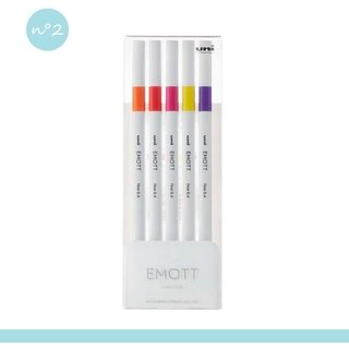 Kit Caneta Uni-Ball Emott Passion Color - 5 cores
