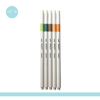 Kit Caneta Uni-Ball Emott Nature Color - 5 cores