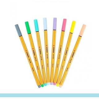 Stabilo Point 88 Pastel c/ 8 Cores - 0,4mm