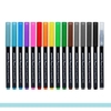 Kit Canetas Ponta Pincel Brush 15 Cores + 1 Blender na internet