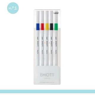 Kit Caneta Uni-Ball Emott Vivid Color - 5 cores