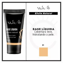 BASE LÍQUIDA VULT EFEITO NATURAL - COR 01 - 25ml na internet