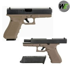 Pistola/marcadora Airsoft  Glock 17 Gen3 Tan Full Metal We