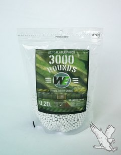 Airsoft Bbgun 6mm 0,20gr X 3000pc Bolsa We