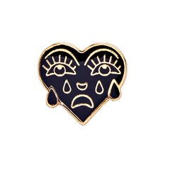 PIN - CRYING HEART - DOURADO