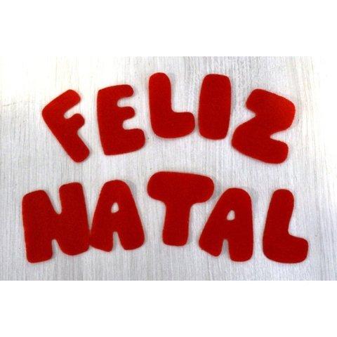 """Frase """"Feliz Natal"""" - 5 frases - Comprar em Netfeltros"""