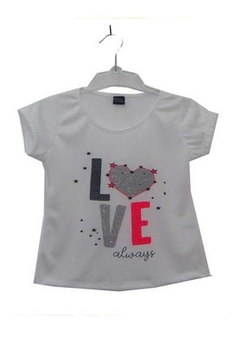 "Remera para Nena con Estampa ""Love"" y Brillos ¡Nueva temporada!"