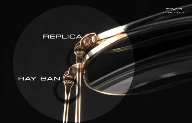 b44bbae0e2 ... de lentes aviadores la forma de terminación en el marco del lente y el  hecho de que en los originales el tornillo siempre es Phillip (en forma de  cruz):
